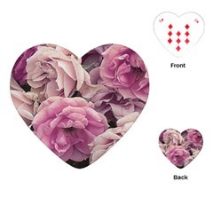 Great Garden Roses Pink Playing Cards (Heart)