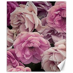 Great Garden Roses Pink Canvas 8  X 10