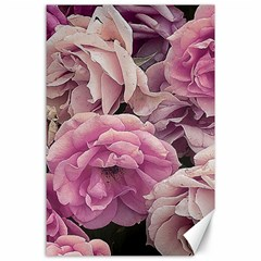 Great Garden Roses Pink Canvas 24  X 36