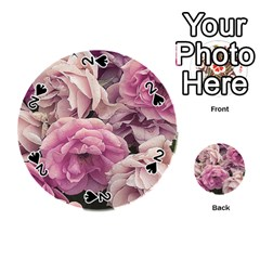 Great Garden Roses Pink Playing Cards 54 (round)