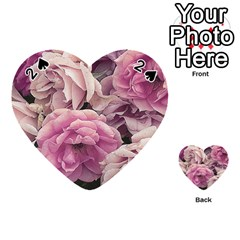 Great Garden Roses Pink Playing Cards 54 (Heart)