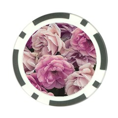 Great Garden Roses Pink Poker Chip Card Guards