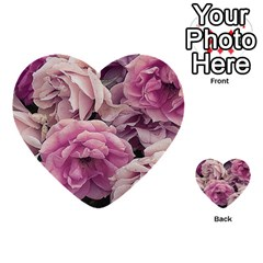 Great Garden Roses Pink Multi-purpose Cards (Heart)