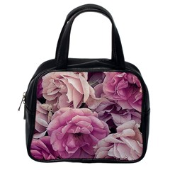 Great Garden Roses Pink Classic Handbags (one Side)