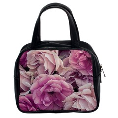 Great Garden Roses Pink Classic Handbags (2 Sides)