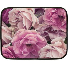 Great Garden Roses Pink Fleece Blanket (mini)