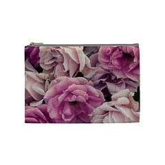 Great Garden Roses Pink Cosmetic Bag (medium)