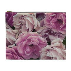 Great Garden Roses Pink Cosmetic Bag (xl)