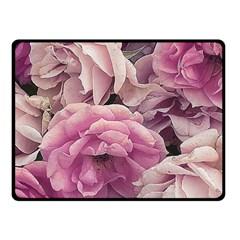 Great Garden Roses Pink Fleece Blanket (Small)