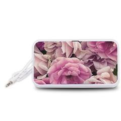 Great Garden Roses Pink Portable Speaker (White)
