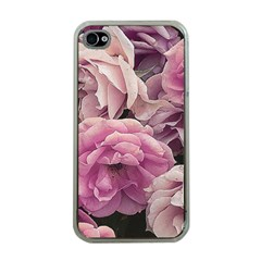 Great Garden Roses Pink Apple Iphone 4 Case (clear)