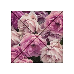 Great Garden Roses Pink Acrylic Tangram Puzzle (4  x 4 )