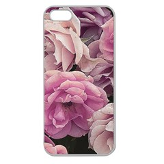 Great Garden Roses Pink Apple Seamless Iphone 5 Case (clear)