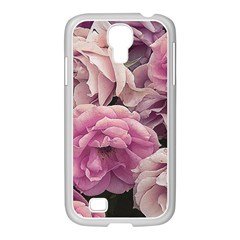 Great Garden Roses Pink Samsung Galaxy S4 I9500/ I9505 Case (white)