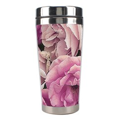 Great Garden Roses Pink Stainless Steel Travel Tumblers