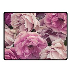 Great Garden Roses Pink Double Sided Fleece Blanket (Small)