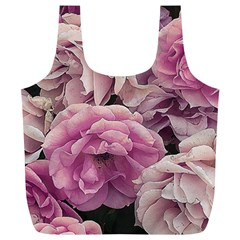 Great Garden Roses Pink Full Print Recycle Bags (l)