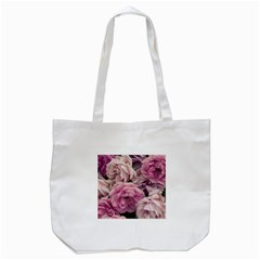 Great Garden Roses Pink Tote Bag (white)