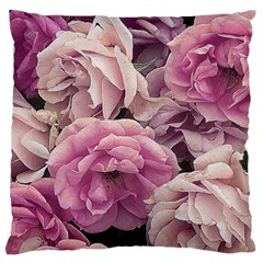 Great Garden Roses Pink Large Flano Cushion Cases (two Sides)