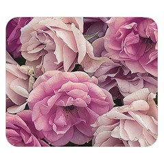 Great Garden Roses Pink Double Sided Flano Blanket (small)