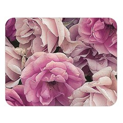 Great Garden Roses Pink Double Sided Flano Blanket (Large)
