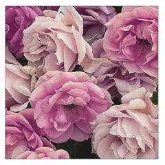 Great Garden Roses Pink Large Satin Scarf (Square)