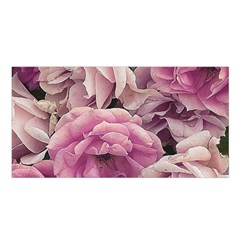 Great Garden Roses Pink Satin Shawl