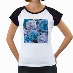 Great Garden Roses Blue Women s Cap Sleeve T