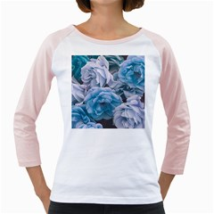 Great Garden Roses Blue Girly Raglans