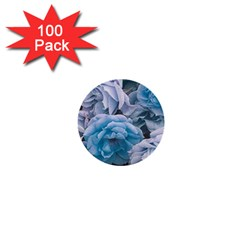 Great Garden Roses Blue 1  Mini Buttons (100 Pack)