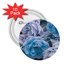 Great Garden Roses Blue 2 25  Buttons (10 Pack)