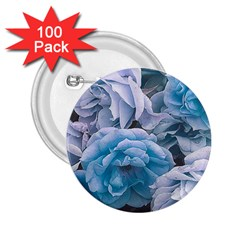 Great Garden Roses Blue 2 25  Buttons (100 Pack)