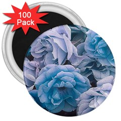 Great Garden Roses Blue 3  Magnets (100 Pack)