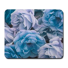 Great Garden Roses Blue Large Mousepads