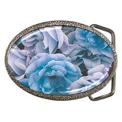 Great Garden Roses Blue Belt Buckles