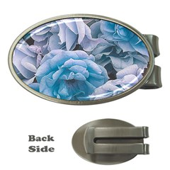 Great Garden Roses Blue Money Clips (oval)