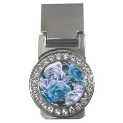 Great Garden Roses Blue Money Clips (cz)