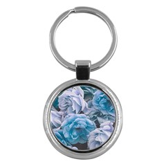 Great Garden Roses Blue Key Chains (round)