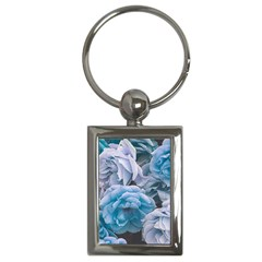 Great Garden Roses Blue Key Chains (rectangle)