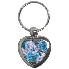 Great Garden Roses Blue Key Chains (heart)