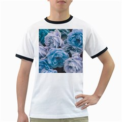 Great Garden Roses Blue Ringer T Shirts