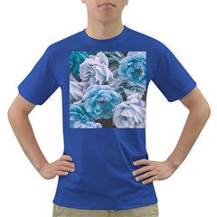 Great Garden Roses Blue Dark T Shirt