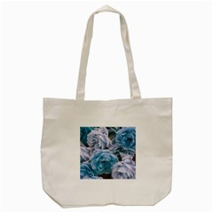 Great Garden Roses Blue Tote Bag (Cream)