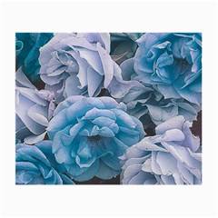 Great Garden Roses Blue Small Glasses Cloth