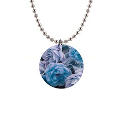 Great Garden Roses Blue Button Necklaces