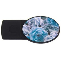 Great Garden Roses Blue Usb Flash Drive Oval (4 Gb)
