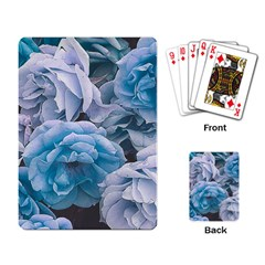 Great Garden Roses Blue Playing Card