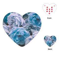 Great Garden Roses Blue Playing Cards (heart)