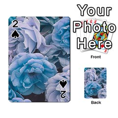 Great Garden Roses Blue Playing Cards 54 Designs