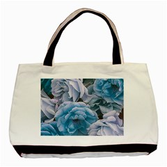 Great Garden Roses Blue Basic Tote Bag